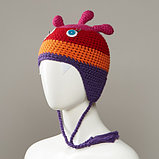 Maniacs Knit Monster Hat With Full Fleece Lining And Tassles, фото 4