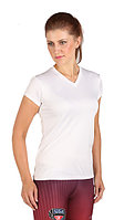Microtech Women's Loose Fit Short Sleeve V-Neck Shirt