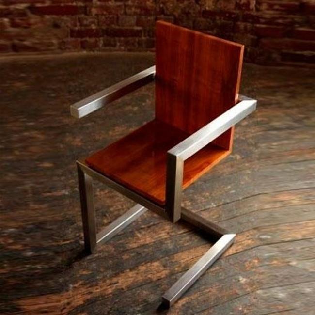 Металлический стул в стиле Лофт