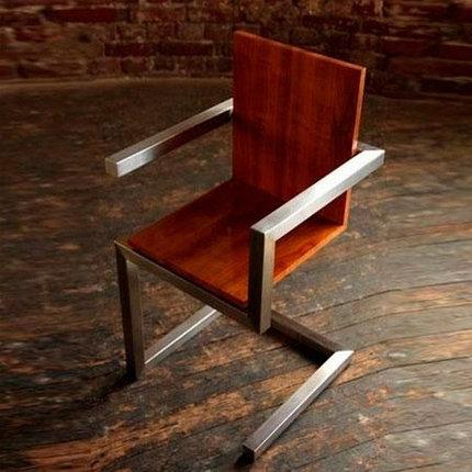 Металлический стул в стиле Лофт, фото 2