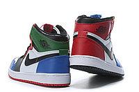 """Кожаные кроссовки Air Jordan 1 Retro """"Multicolor"""" (36-46), фото 6"""