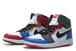 """Кожаные кроссовки Air Jordan 1 Retro """"Multicolor"""" (36-46)"""