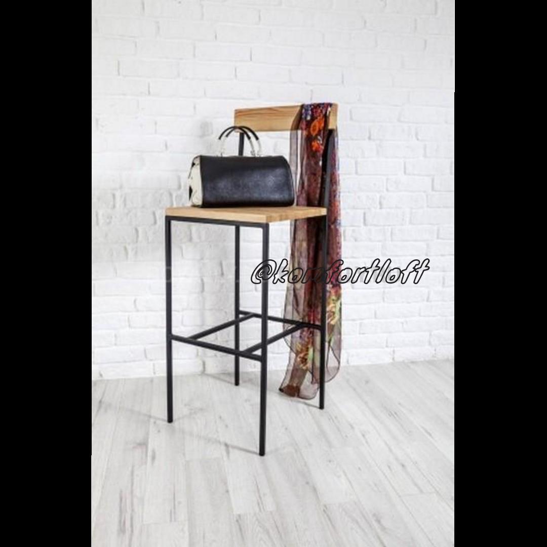 Барный стул на металлическом каркасе в стиле Loft