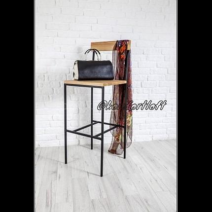Барный стул на металлическом каркасе в стиле Loft, фото 2