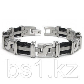 Men's Titanium Black Cable Link Bracelet