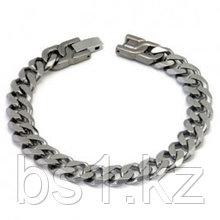 Italian Cut Men's Titanium 10MM Curb Link Bracelet