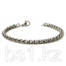 Titanium 4MM Wheat Link Bracelet