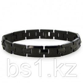 Black Tungsten Carbide Men's H-Link Bracelet