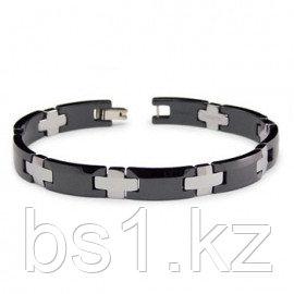 Tungsten Carbide Ceramic Two Tone Men's Bracelet
