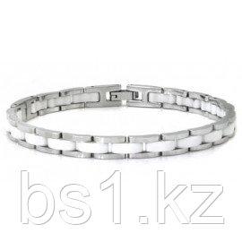 Stainless Steel White Diamond Ceramic Bracelet