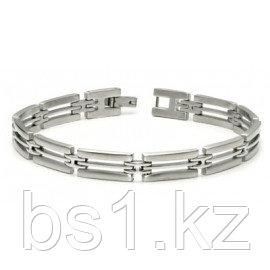 Stainless Steel Two Tone Triple-Link Bracelet