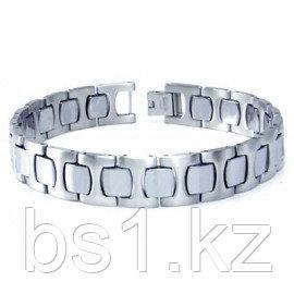 Stainless Steel Tungsten Carbide Link Bracelet