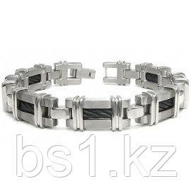 Men's Black Titanium Cable Link Bracelet