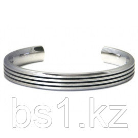 Titanium 10MM Cuff Bangle w/ 3 Lines