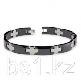 Tungsten Carbide Ceramic Two Tone Men's Bracelet