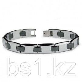 Tungsten Carbide Black Ceramic Men's Bracelet