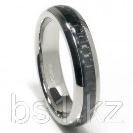 Titanium 5MM Carbon Fiber Inlay Band Ring