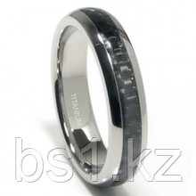Titanium 5MM Carbon Fiber Inlay Band Ring