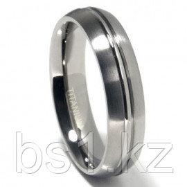 Titanium 6mm Ribbed Matte Dome Wedding Band Ring