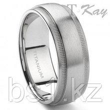 CAMMI Titanium 8mm Milgrain Wedding Band Ring