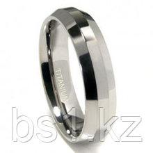 Titanium 6mm Beveled Wedding Band Ring