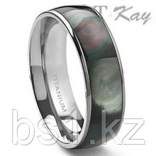 ALOIS Titanium Mother of Pearl 6mm Band Ring