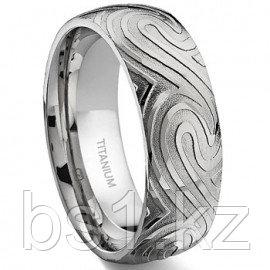 7 Degree OCEAN SWIRLS Titanium Band Ring