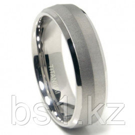 Titanium 7mm Satin Finish Knife Edge Wedding Band Ring