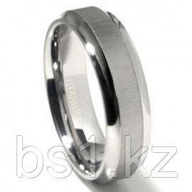 Titanium 7mm Satin Finish Concave Edge Wedding Band Ring