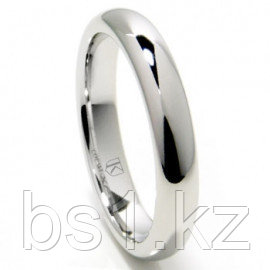 Titanium 4mm High Polish Dome Wedding Band Ring