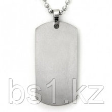 Titanium Engravable Dog Tag Pendant w/ Bead Chain