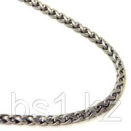 Titanium 4MM Wheat Link Necklace Chain