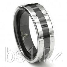 Cobalt XF Chrome 8MM Two-Tone High Polish Wedding Band Ring