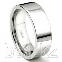 Cobalt XF Chrome 8MM High Polish Flat Wedding Band Ring