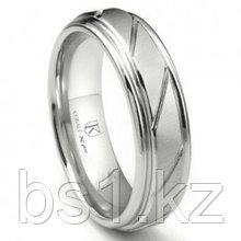 Cobalt XF Chrome 8MM Diamond Cut Ribbed Wedding Band Ring