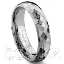 VENUS Tungsten Carbide 6MM Faceted Wedding Band Ring