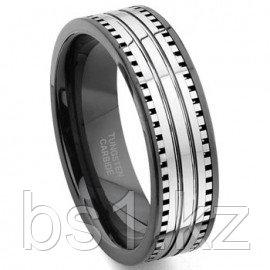 2nd Generation Tungsten Carbide Two Tone Milgrain Wedding Band Ring