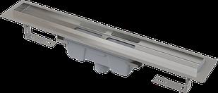 Водоотводящий желоб с порогами для цельной решетки, вертикальный сток  ALCAPLAST APZ1006-1050