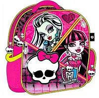 Рюкзак Monster High розовый с черепом, фото 1