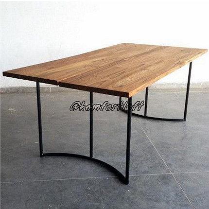 Стол на металлическом основании (Loft), фото 2