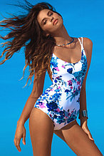 Floral Backless Lace up Monokini