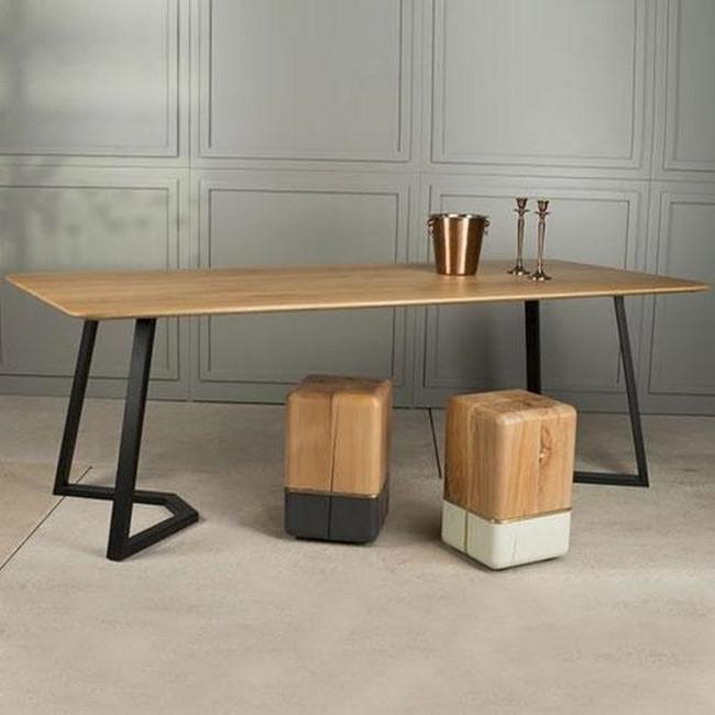 Стол Loft (столешница сосна, основание металл)