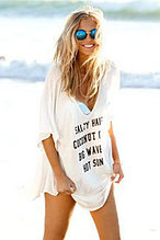 Cheeky Letter Print Summer Cover up