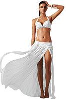 White Elegant Mesh Maxi Skirt Cool Beachwear
