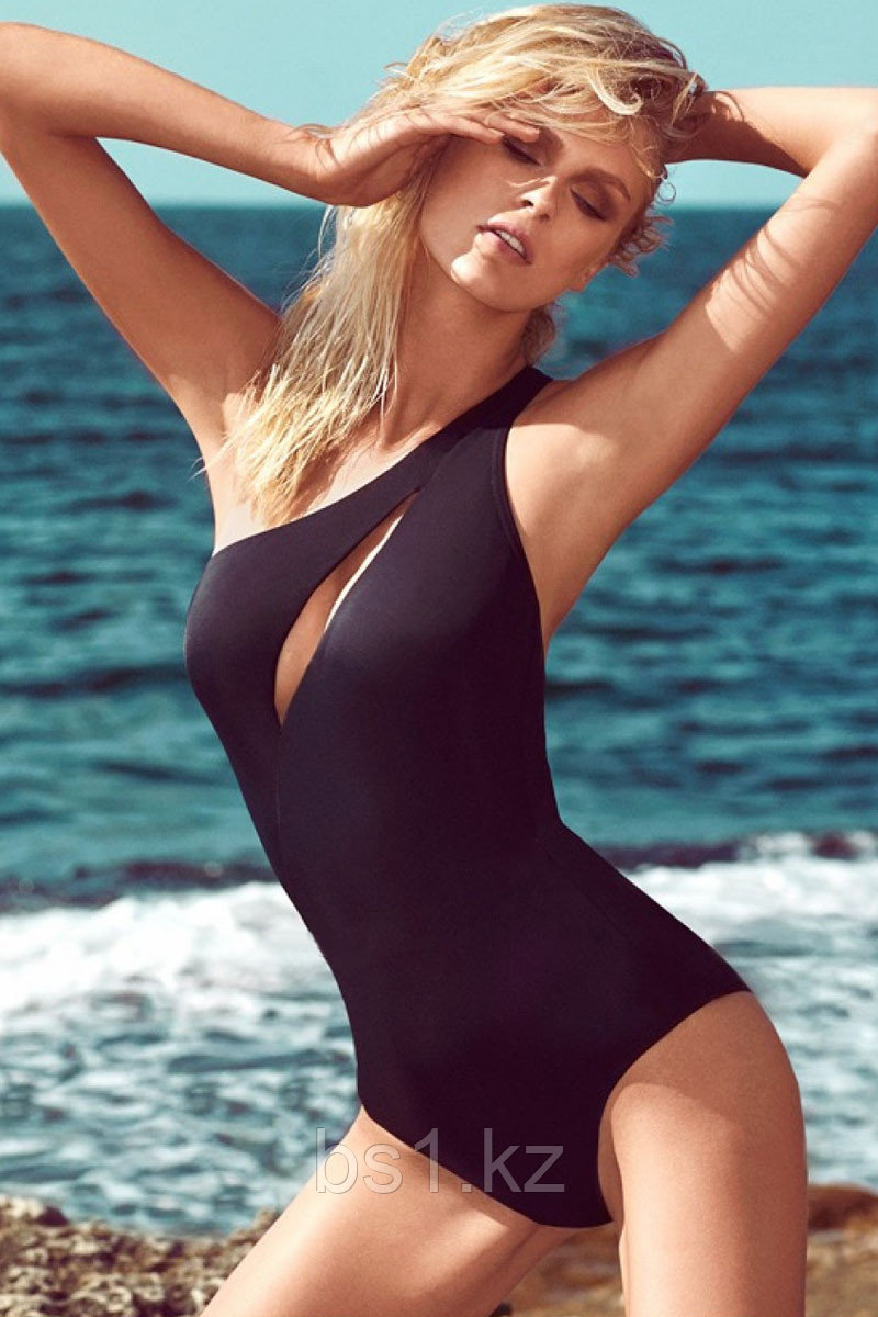One Shoulder Cleavage Slit One-piece Swimwear