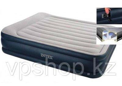 Двуспальная надувная кровать 64136 с подголовником с доставкой