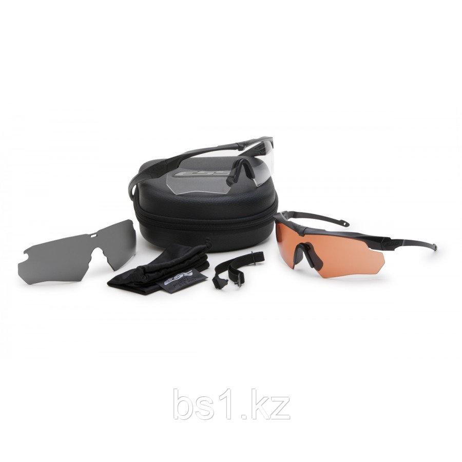 Очки стрелковые ESS Crossbow Suppressor 2X+ Deluxe Eyeshield Kit (Clear, Copper, Smoke Gray lens)