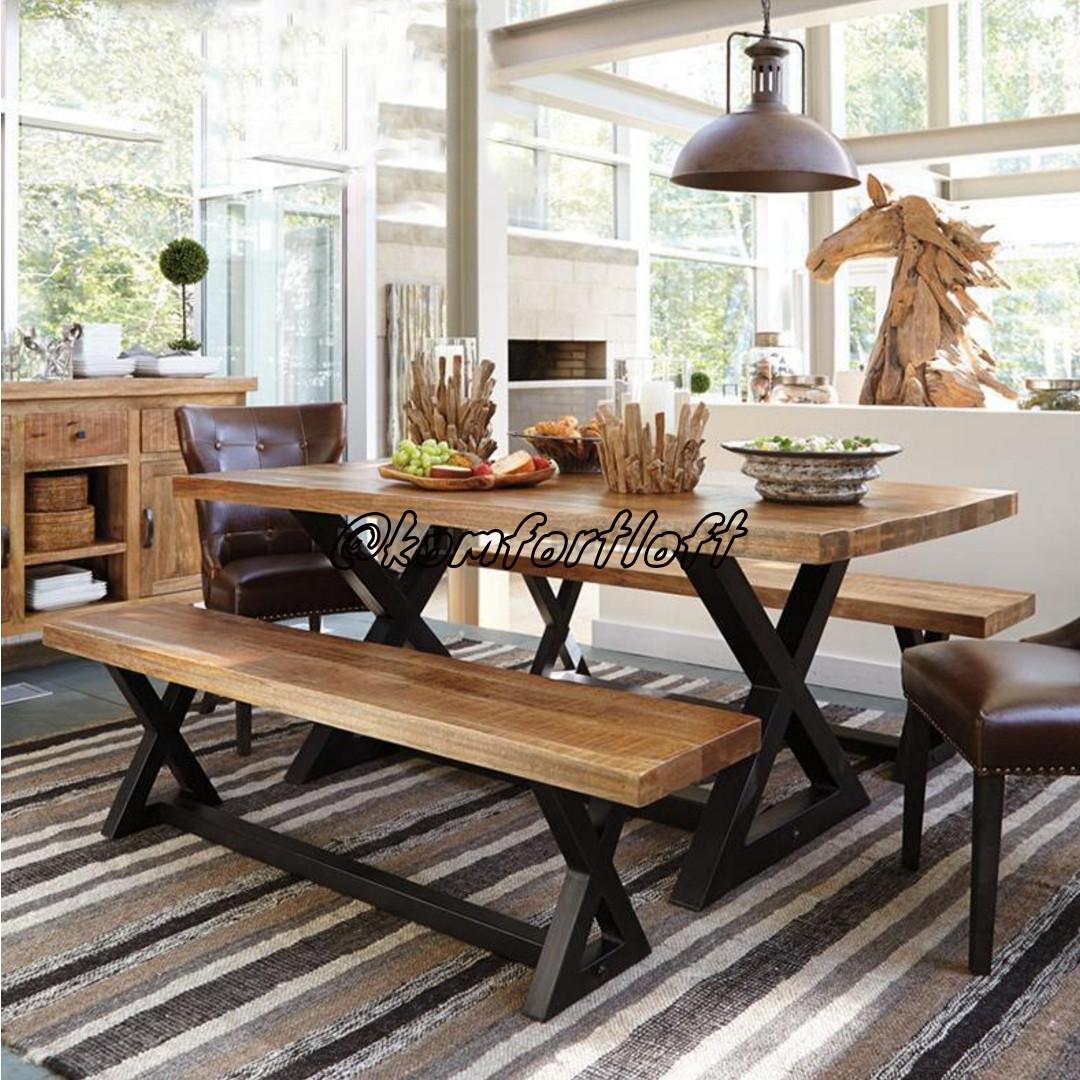 Комплект столовой мебели стиль Лофт