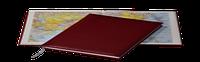 Ежедневник Sherwood, не датированный + Атлас, белая бумага, 14,5*20,5, цвет Бордовый