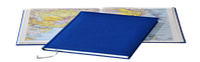 Ежедневник Delhi, не датированный + Атлас, белая бумага, 14,5*20,5, цвет синий